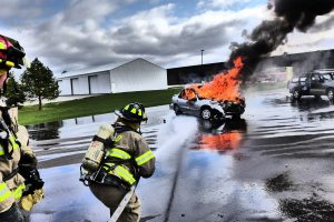 North Liberty Fire Department - Car Fire
