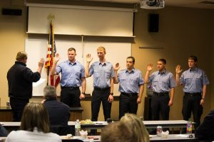 North Liberty Fire Department - Volunteers Swearing In